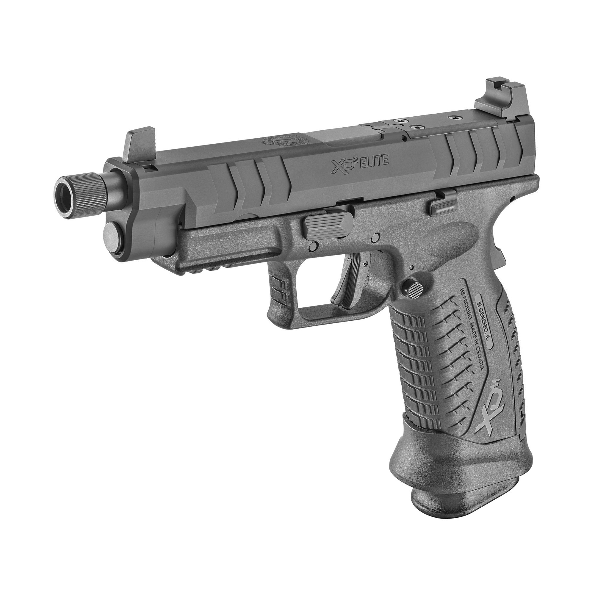 "Springfield, XDM Elite OSP, Full Size Pistol, 9MM, 4.5"" Threaded, Black, Suppressor Sights, 19 Rounds, 2 Magazines"