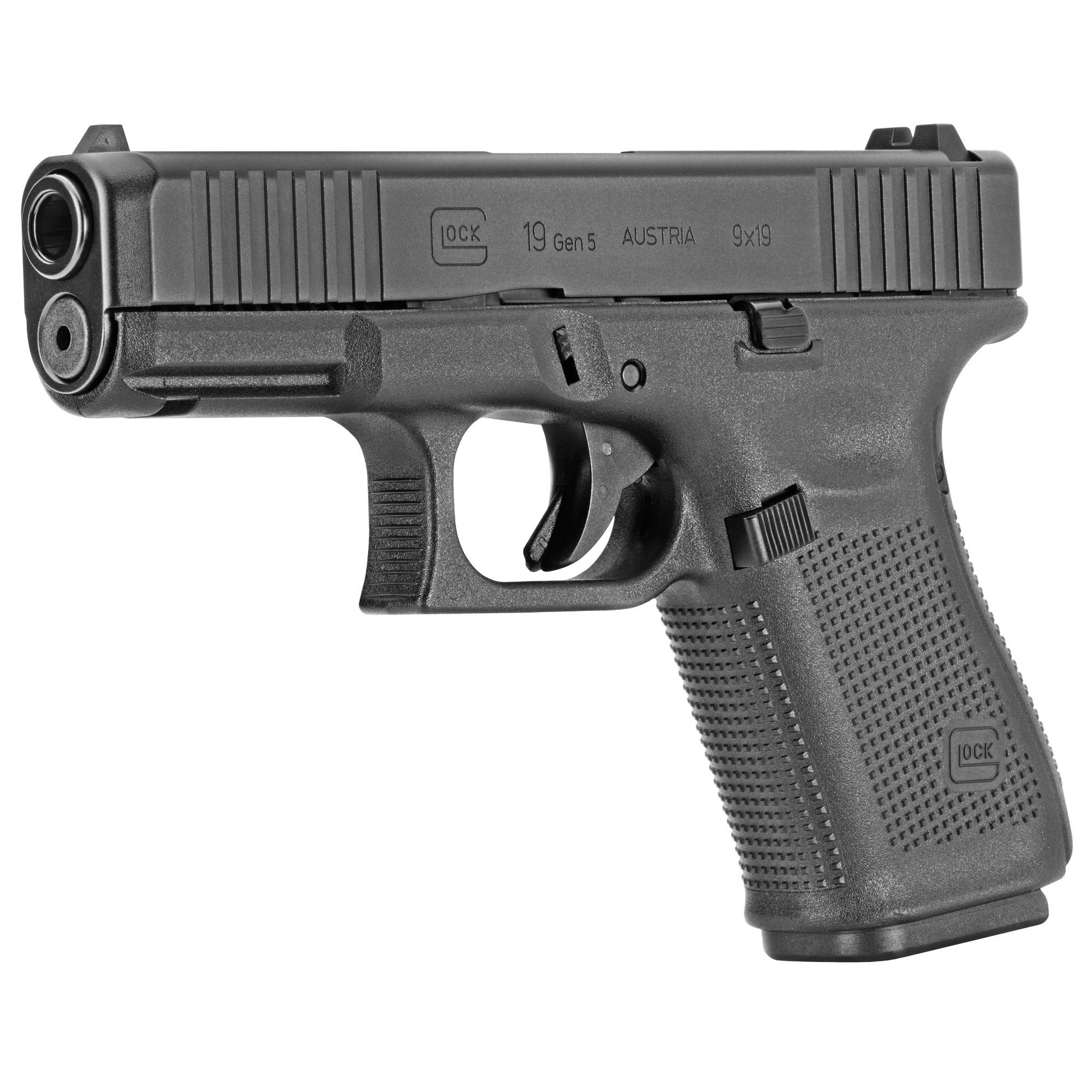 Glock 19 Gen 5, 9 mm, 15 rd, 3 mags