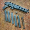Used Century Draco Nak 9 Pistol, AK style pistol, 6 magazines - 33 round, Picatinny and AR tube adapter