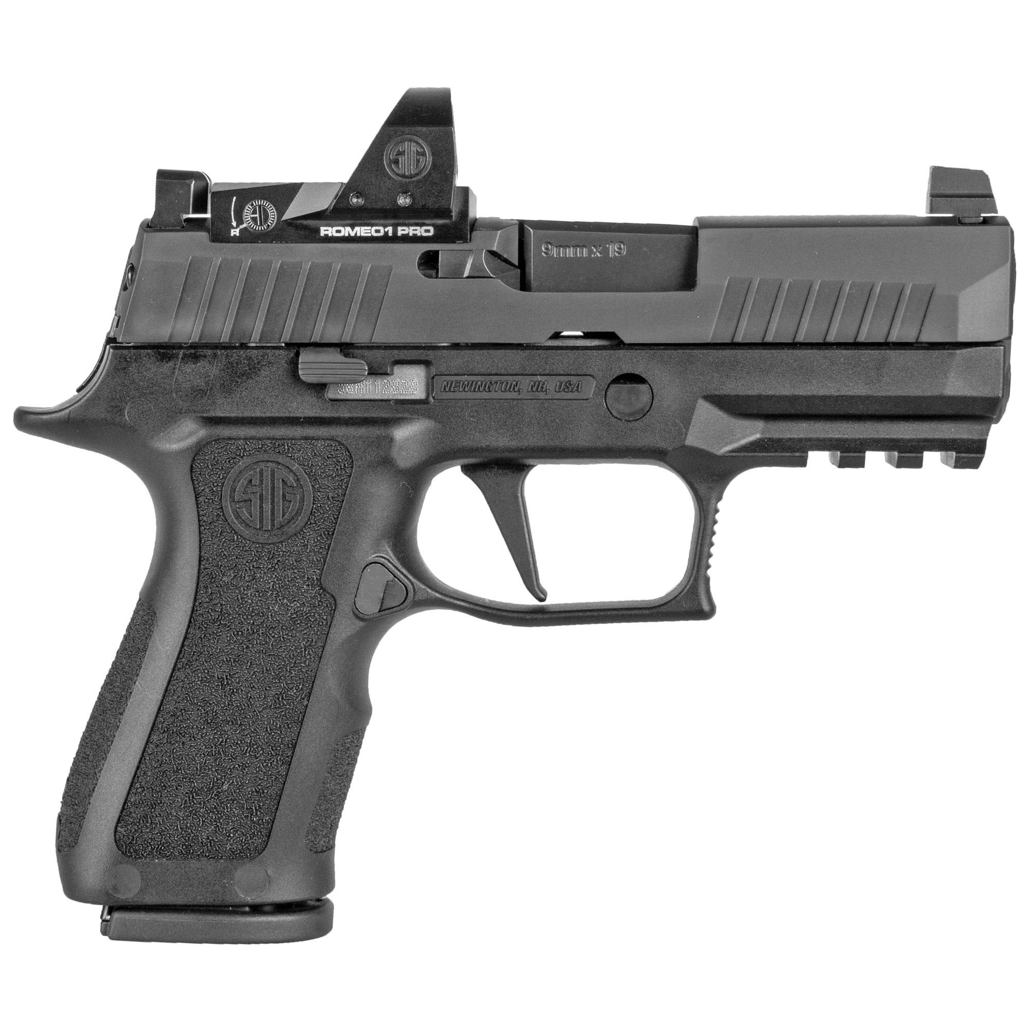 "Sig Sauer P320 X Compact RXP, 9mm, 3.6"", Black, Night Sights, Romeo1 Pro, 15Rd, 2 Magazines"