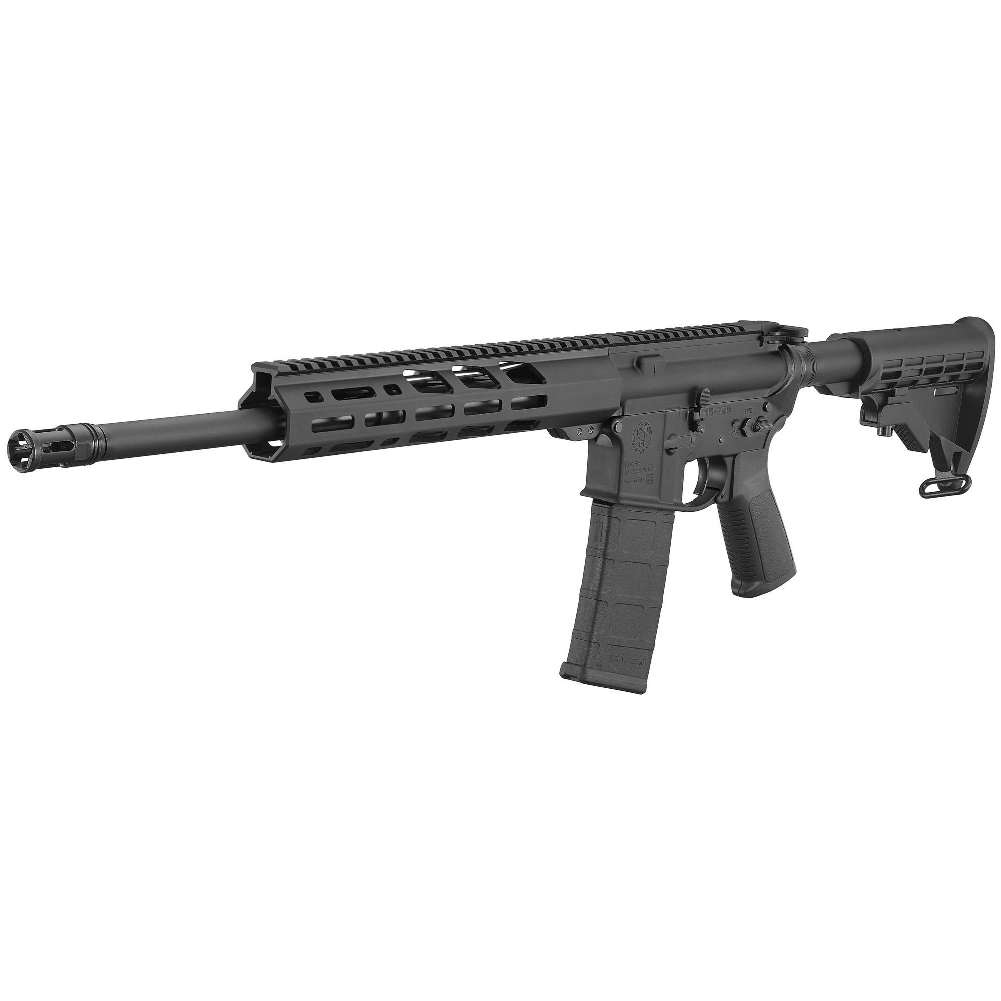 "Ruger AR-556, 223/556, 16.1"", Black, M-LOK Handguard, 1-30Rd Magazine"