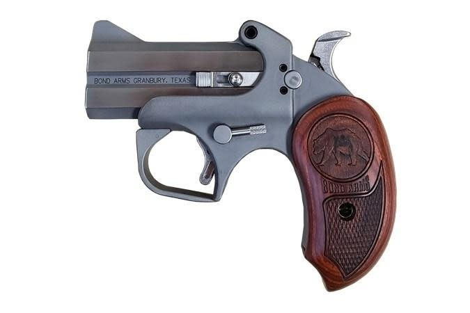 "Bond Arms Grizzly Bear Derringer, 45 Colt, 3"", rosewood grips"