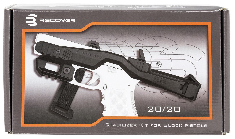 Recover Tactical 20/20 Stabilizer kit, For Glock standard frames, Black