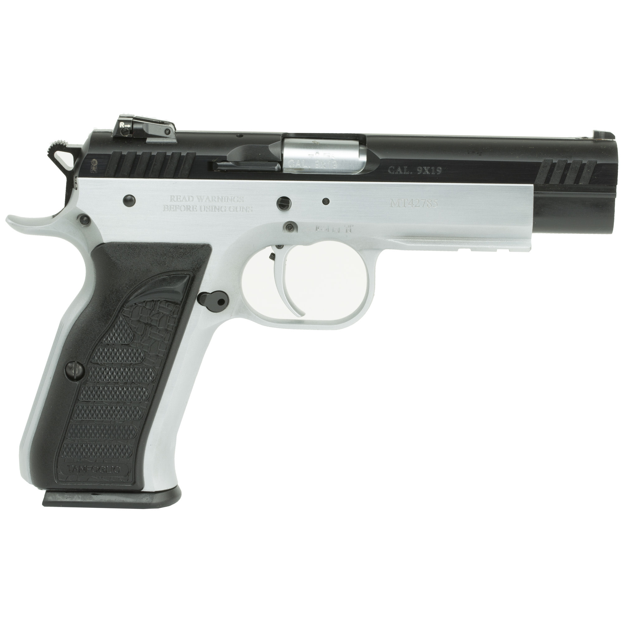 """EAA Witness Elite Match, 9mm, 4.75"""", Steel, Two-Tone Finish, Synthetic Grips, 17Rd, 1 Magazine"""