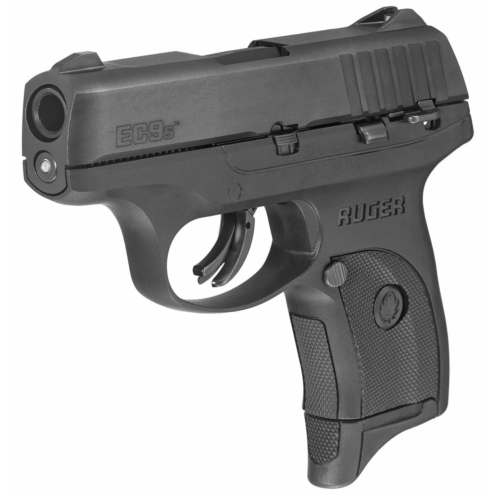 """Ruger EC9S, 9mm, 3.1"""", Black, 7rd, 1 magazine, thumb safety"""