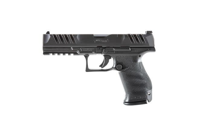 Walther PDP Compact, 9mm, 5'' Barrel, Optics Ready, Black Polymer, 15 rd