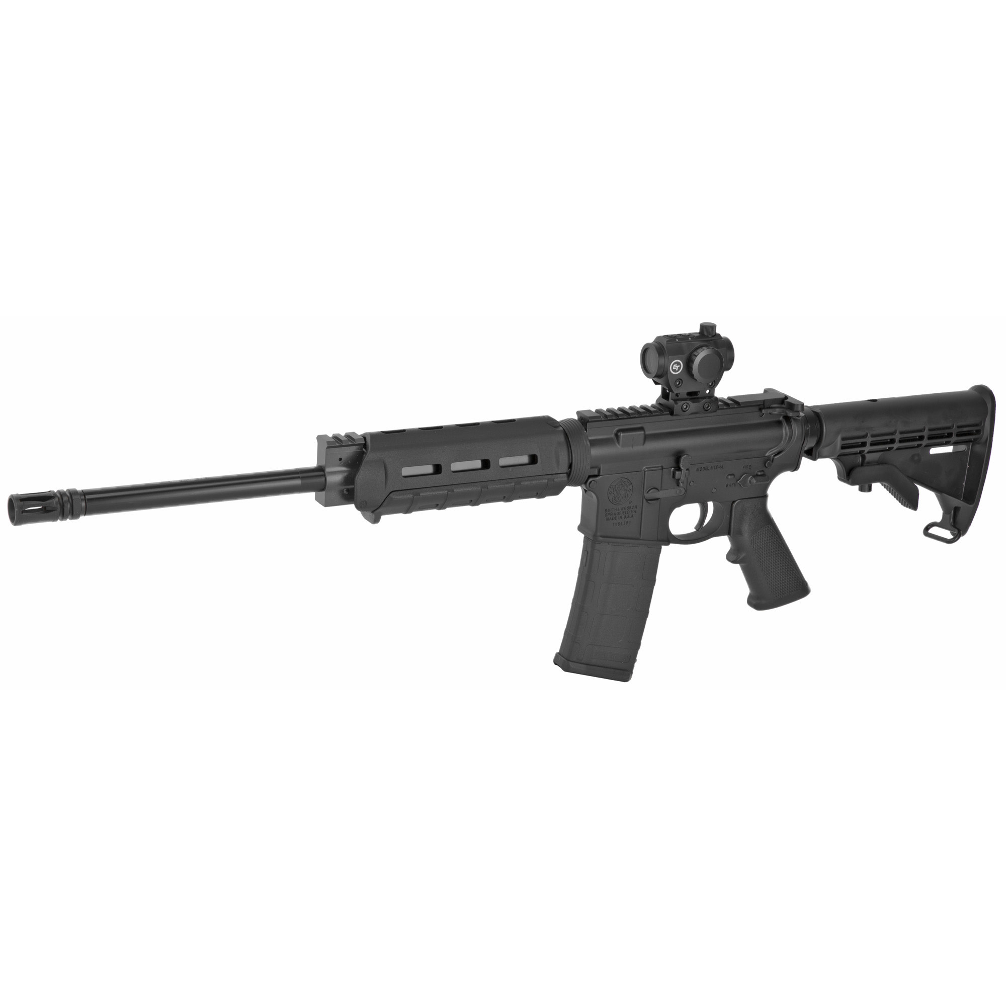 """Smith & Wesson, M&P 15 Sport II OR, 556, 16"""", Black, 30Rd, M-LOK Handguard, Crimson Trace CTS-103 Red/Green Dot 4MOA Dot"""