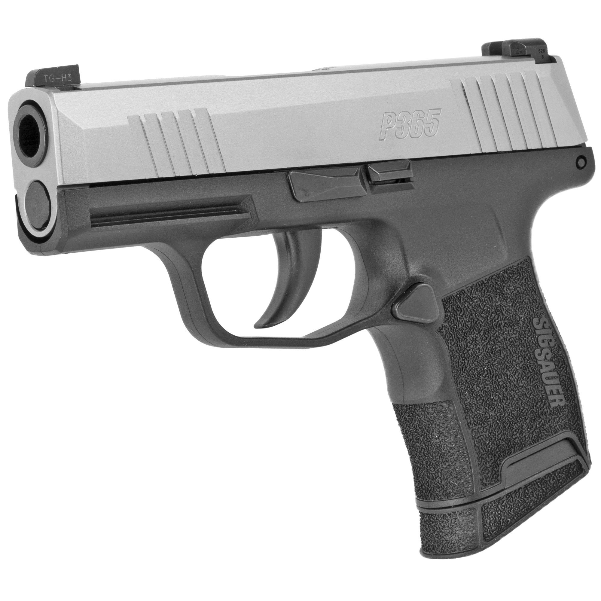 Sig Sauer P365, 9mm, Stainless slide, Night Sights, 10rd