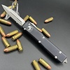 Microtech ULTRATECH, Black Frame, Blade - Satin blade, double edge, full serrated
