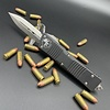 Sold Out - Microtech COMBAT TROODON, Black Frame, Blade: Double Edge, Satin Standard