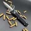 Microtech ULTRATECH, Black Frame, Blade - double edge, stonewash standard
