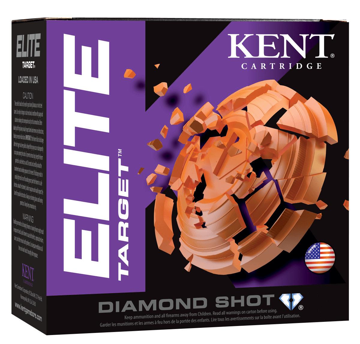 """Ammo, Kent Cartridge Elite Target 12 Gauge 2.75"""" 1 1/8 oz 7.5 Shot 25 Bx"""