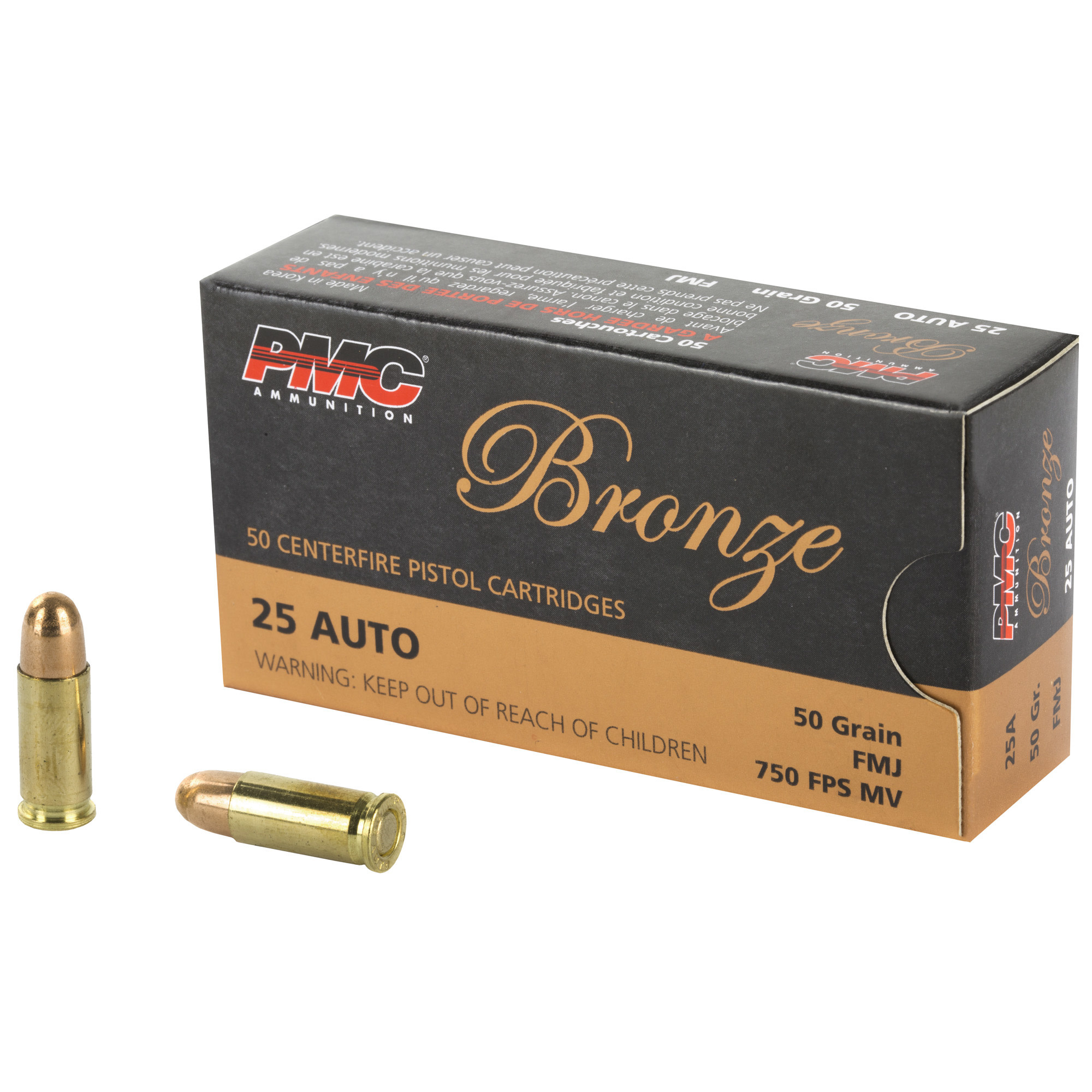 Ammo, PMC 25 Auto, 50 gr, 50 rd