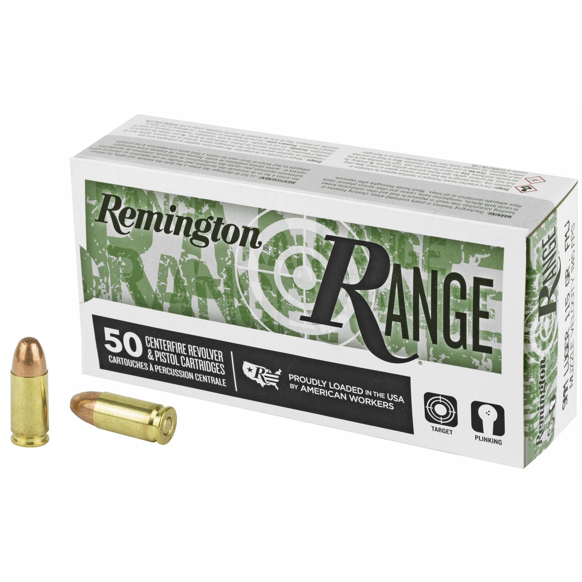 Ammo, Remington UMC, 9mm  115gr, 50 rd