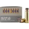 Ammo, Corbon 45LC+P, 300 gr, JSP, personal defense