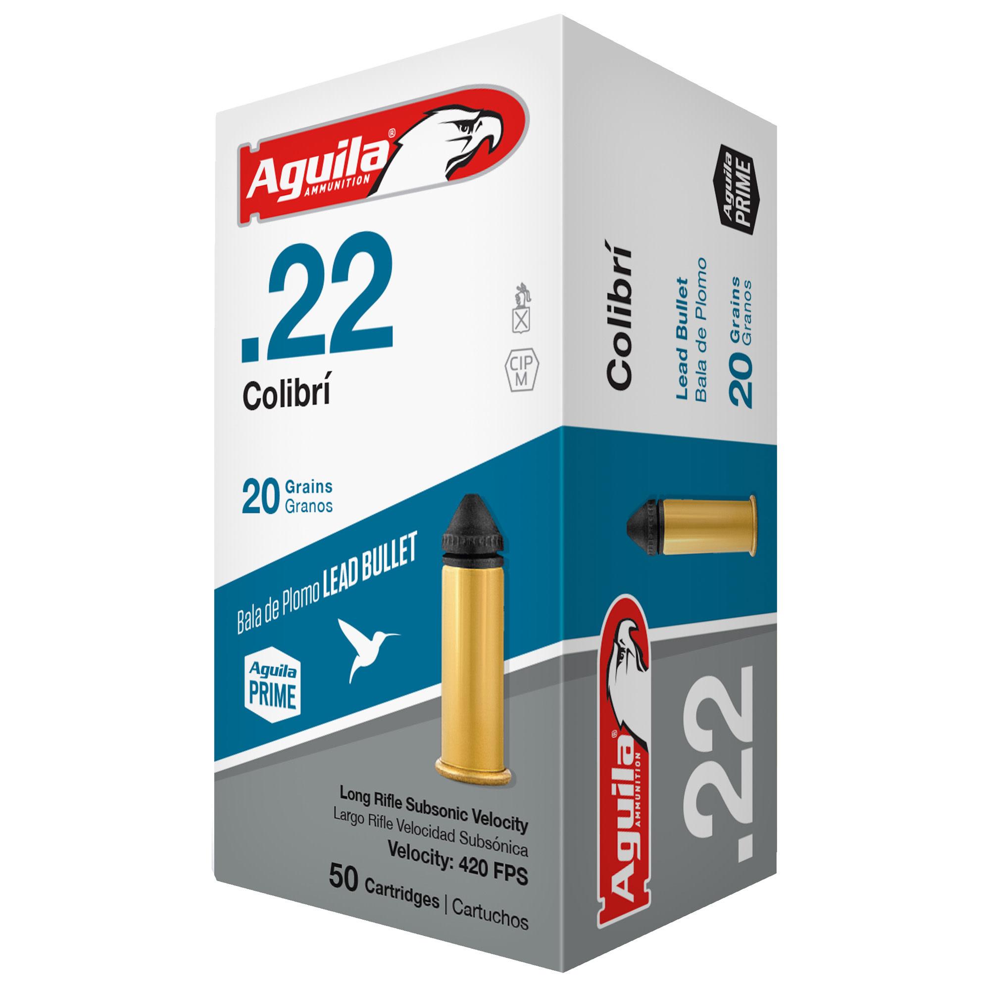 Ammo, Aguila, 22LR, Colibri, 20 gr 50 rd