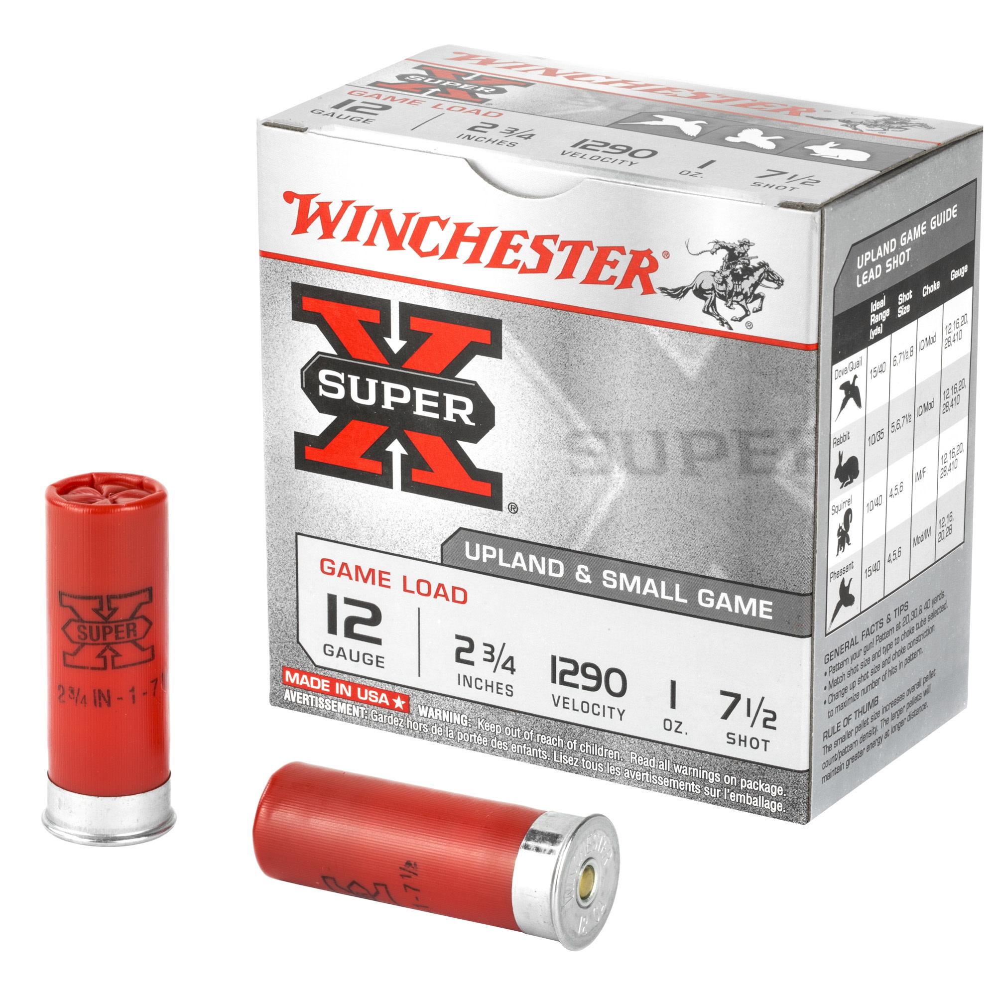 "Ammo, Winchester Super X Game Load, 12ga, 2.75"", 7.5 Shot, 25rd"