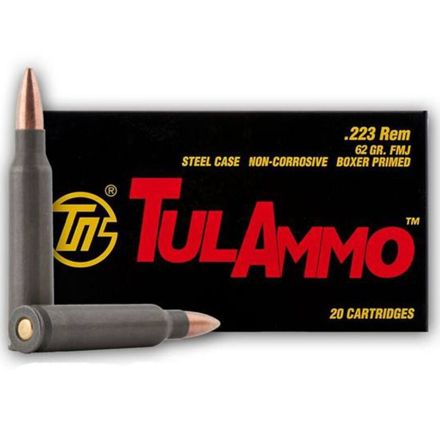 Ammo, Tulammo, 223 Rem, 62 gr, FMJ, 20rd (Not for use at Openrange)