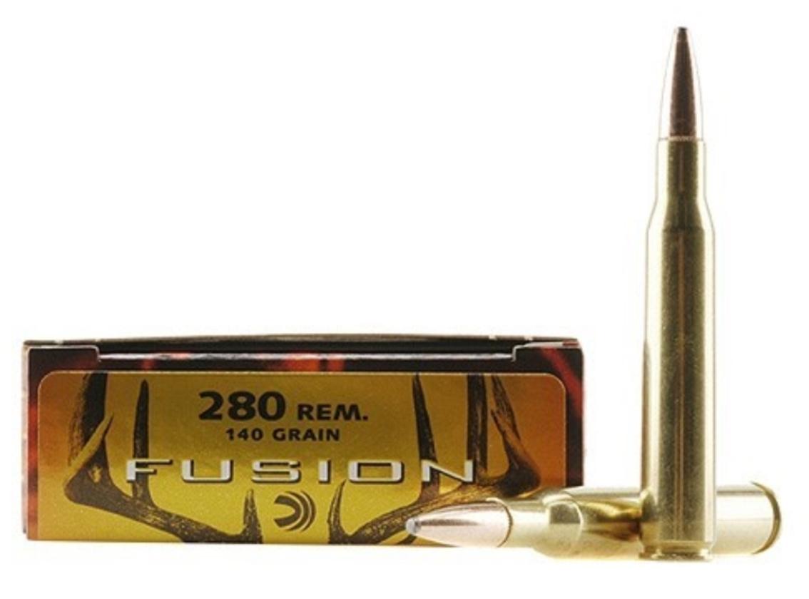 Ammo, Federal Fusion, 280 Rem, 140 gr, 20 rd