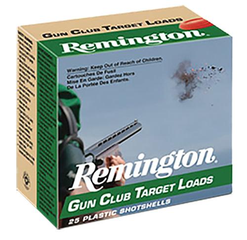 "Ammo, Remington Gun Club 12 Gauge 2.75"" 1 1/8 oz 7.5 Shot 25 Bx"