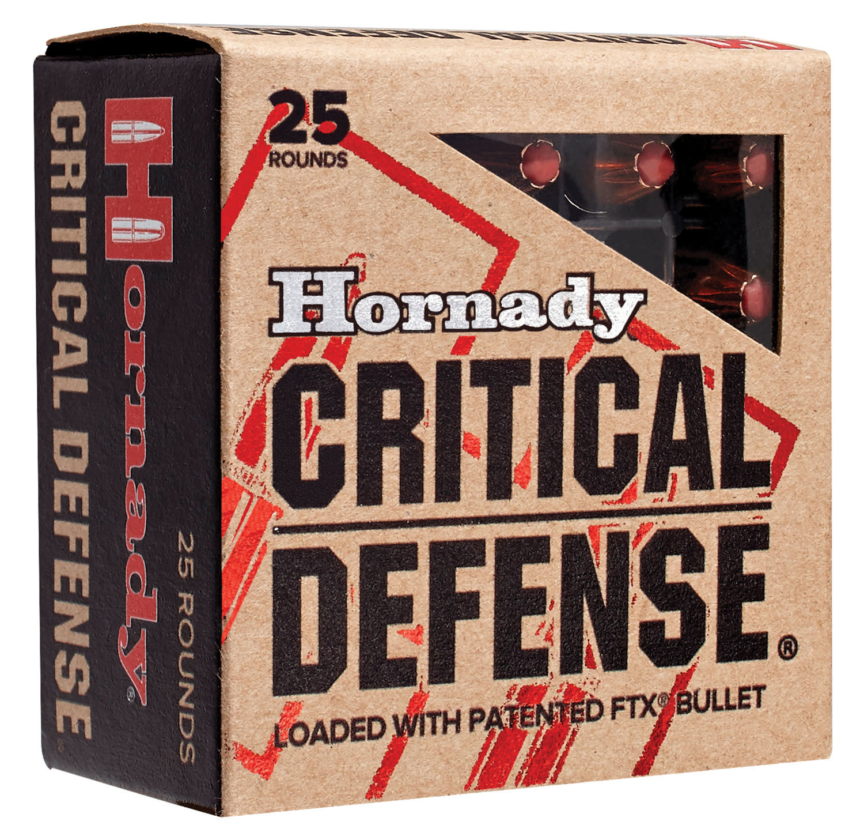 Ammo, Hornady 38+P, Critical Defense, 110 gr, 25 rds