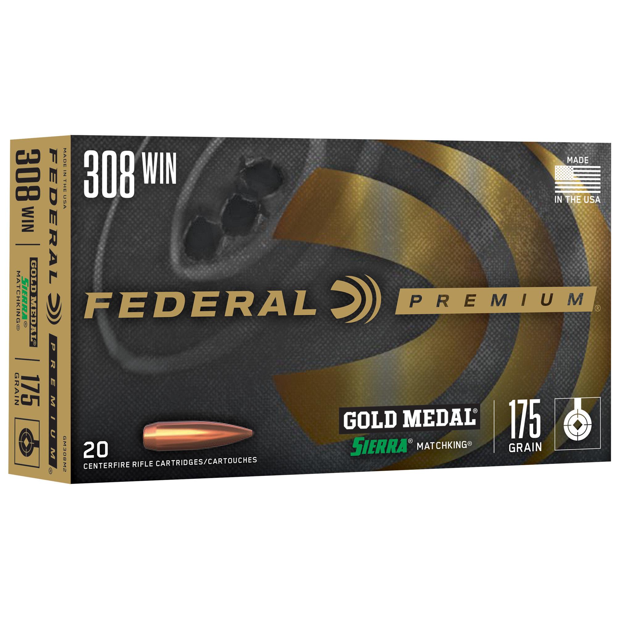 AMMO, FED. GOLD MEDAL 308, 175gr., BTHP