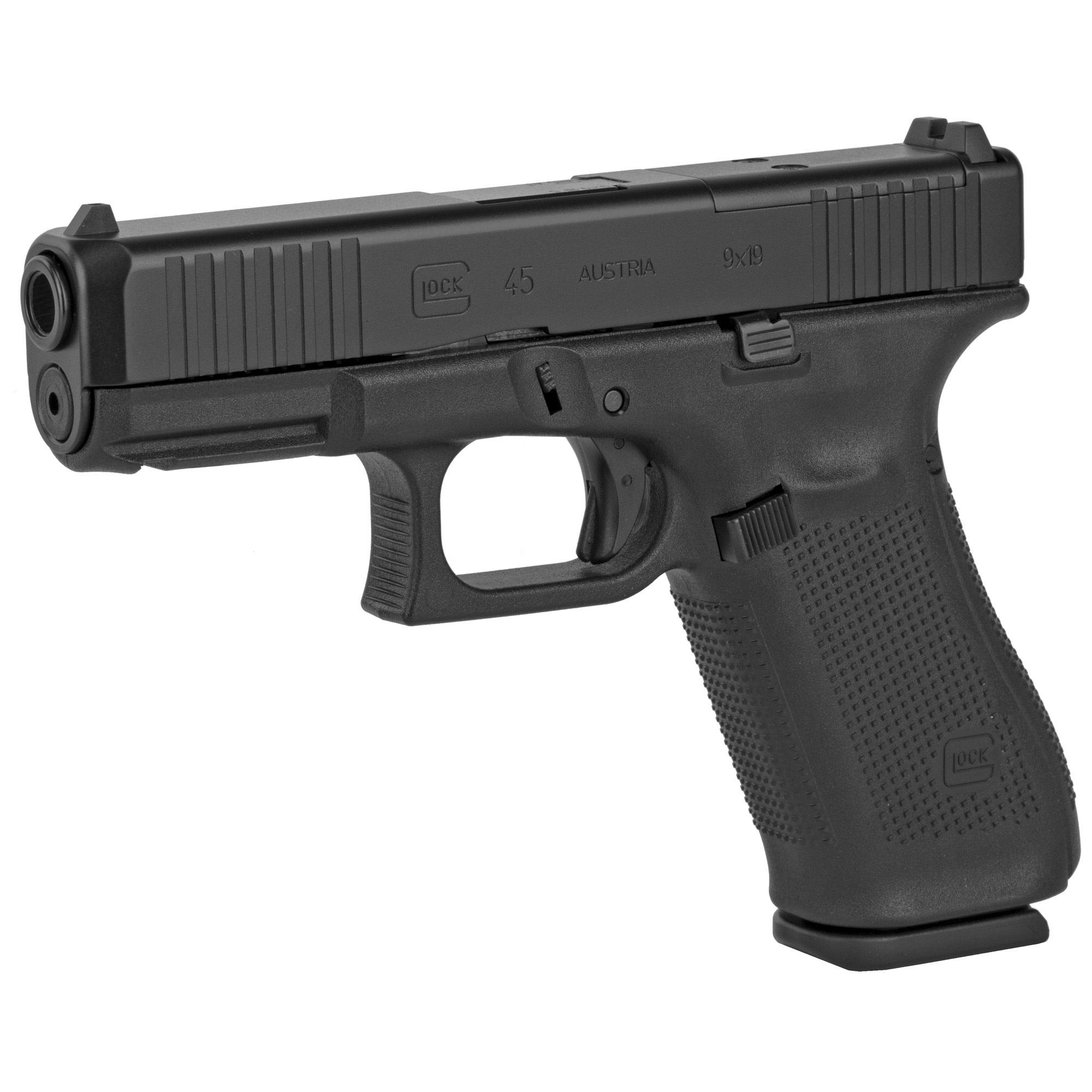 """Glock 45 Gen 5 MOS, 9mm, 4"""", Black, 10 round mags"""