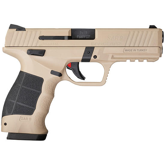 "SAR SAR9, 9mm, 4.4"", Safari Cerakote, 2 x 17RD mags"