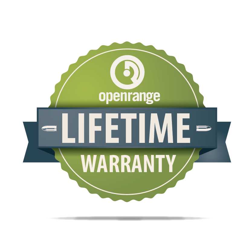 Openrange Lifetime Warranty* - Must be purchased at time of firearm purchase