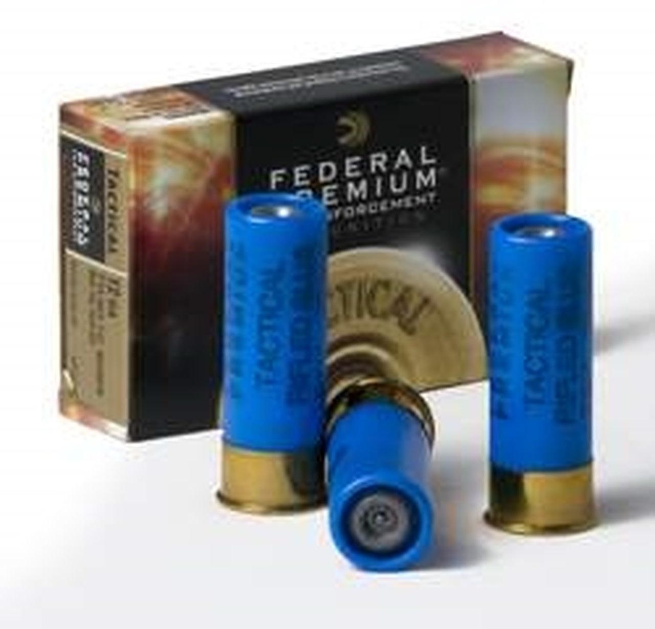 Ammo, Federal Premium Tactical LE, 12ga, 2 3/4'', 1oz rifled slug, 5 round box