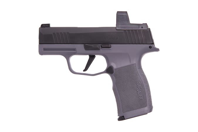 Sig Sauer P365X Combo, Exclusive Grey grip and grey Romeo Zero, 9mm, 3.1'', 12+1,  night sights, also includes black frame