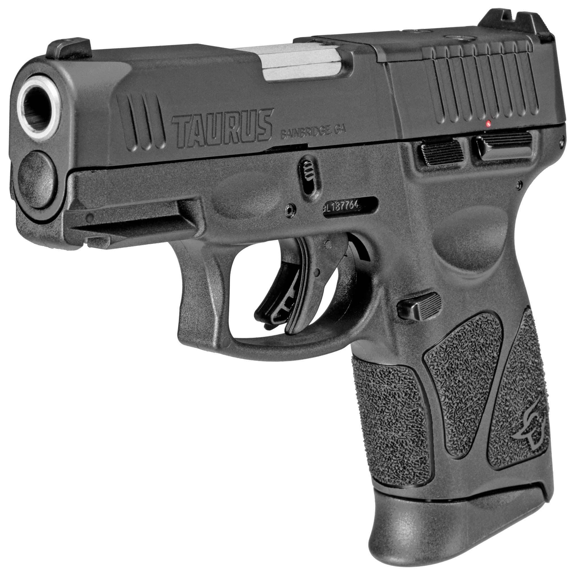 "Taurus G3C, T.O.R.O. (Taurus Optic Ready Option), 9mm, 3.26"", Black, Manual Safety, 12Rd, 3 Magazines"
