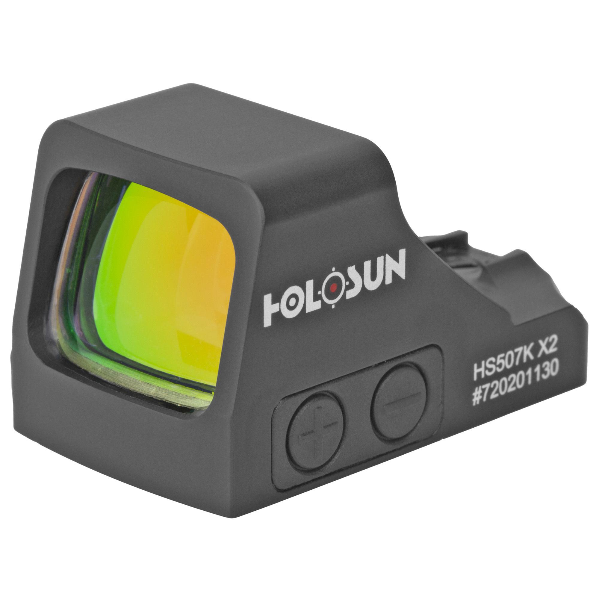 Holosun 507K-X2, Red Dot, 32 MOA Ring & 2 MOA Dot, Black Color