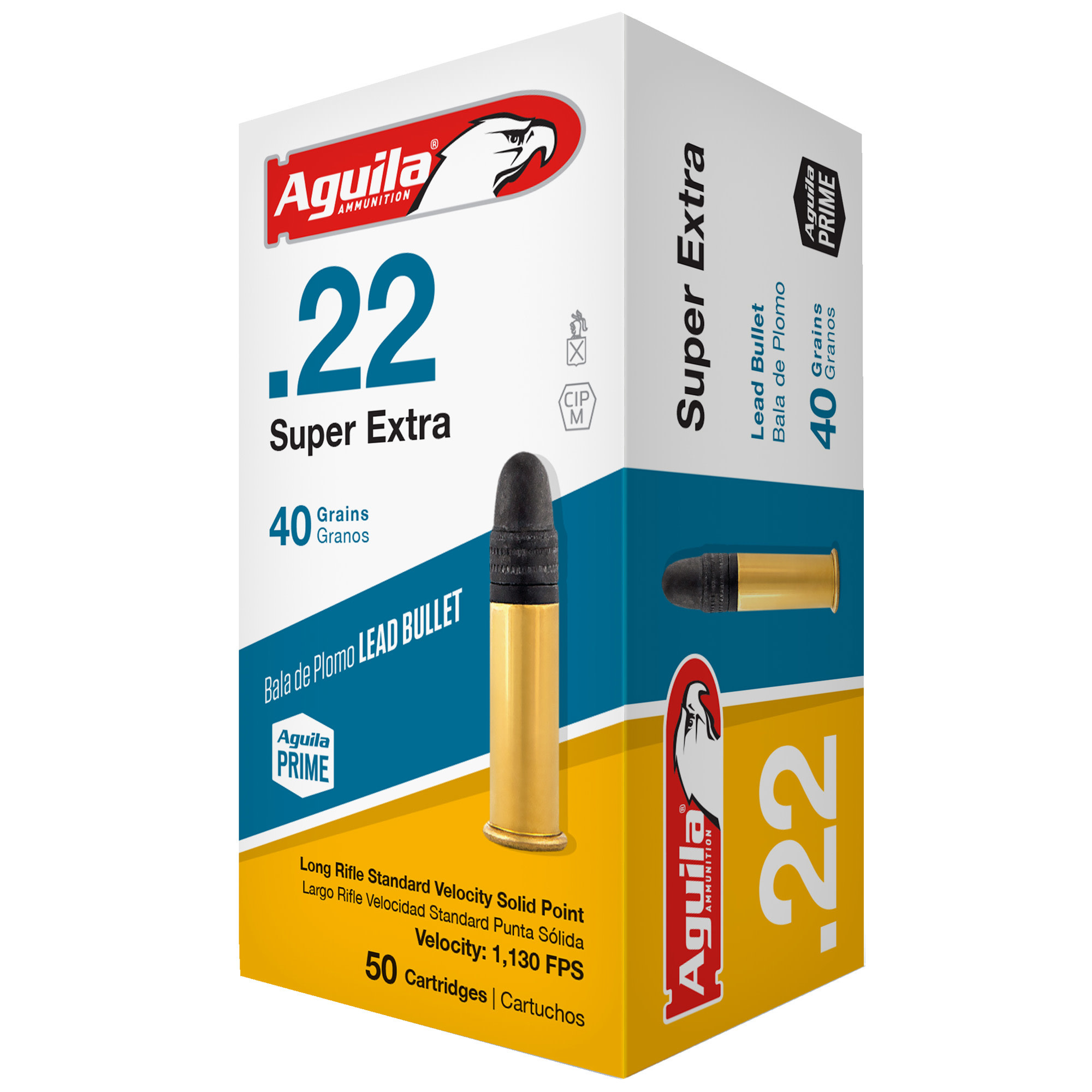 Ammo, Aguila, 22LR Super Extra, Stand. Velocity, 40gr 50rd