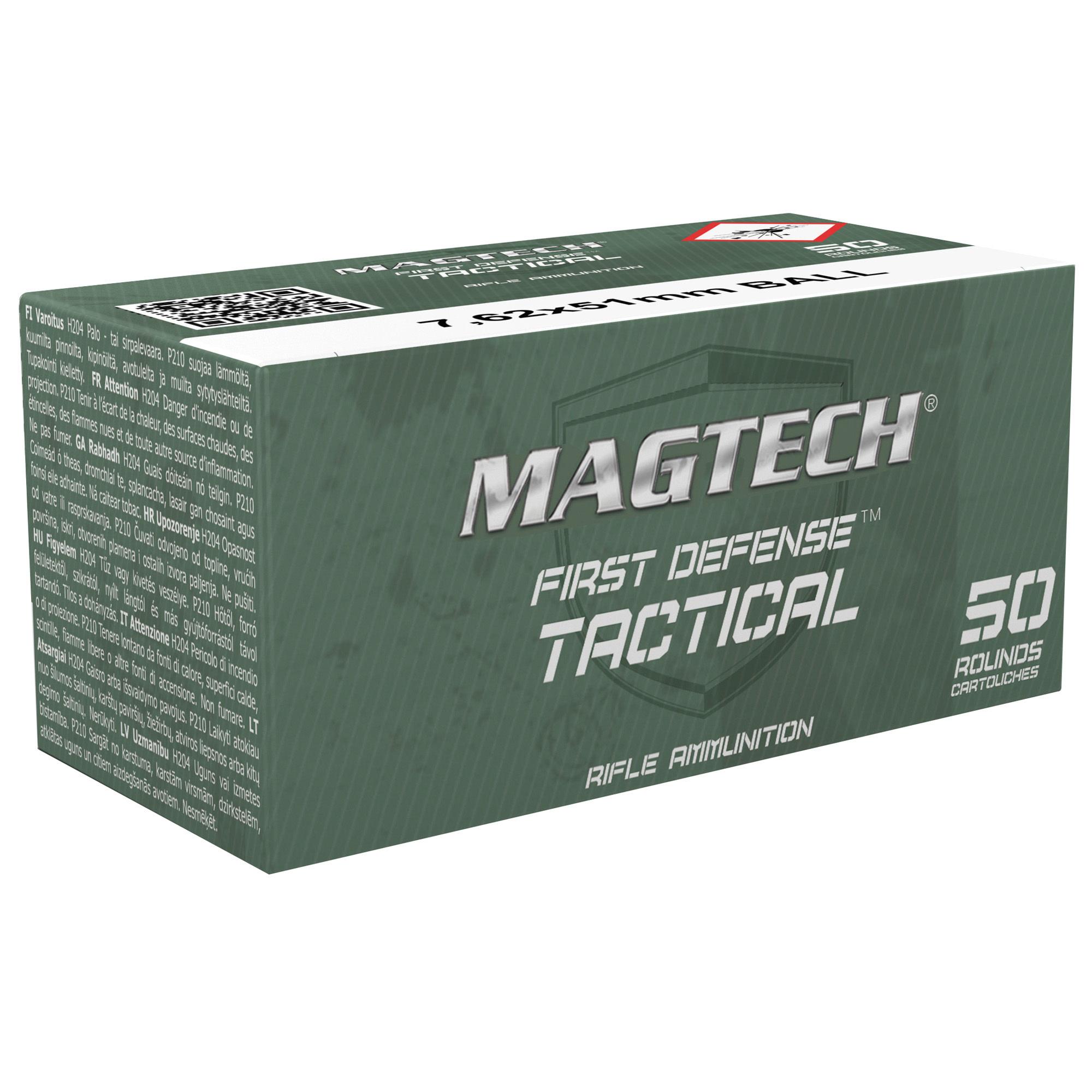 Ammo, Magtech Sport Shooting, 762NATO, 147Gr, Full Metal Jacket, 50 Round Box