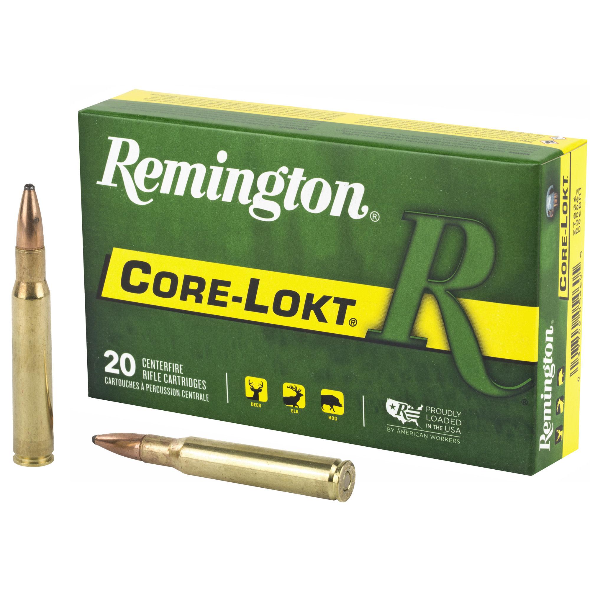 Ammo, Remington Core-Lokt, 30-06, 150 gr, Soft Point, 20 rd