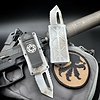 Microtech EXOCET, Sand Trooper, blade - double tanto edge, full serrated