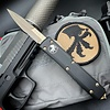 Microtech ULTRATECH, black frame, blade - bayonet bronzed apocalyptic partially serrated