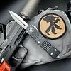 Microtech TROODON, black frame, blade - double edge satin standard