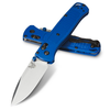 Benchmade BUGOUT, silver blade, blue handle