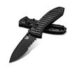 Benchmade PRESIDIO II, black on black, partially serrated