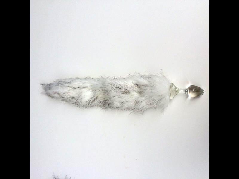 Crystal Delights Crystal Delights Minx Faux Tail Short Stem Small Plug (Husky)