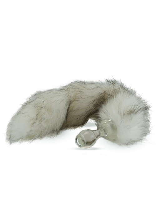 Crystal Delights Minx Faux Tail Short Stem Small Plug (Husky)