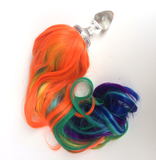 Crystal Delights Crystal Delights Minx Faux Tail Short Stem Small Plug (Rainbow Pony)