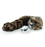 Crystal Delights Crystal Delights Minx Faux Tail Short Stem Small Plug (Leopard)