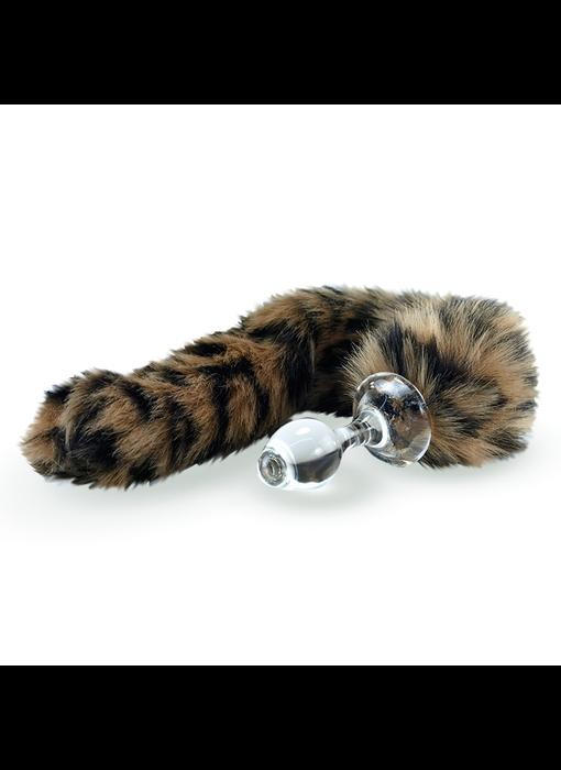 Crystal Delights Minx Faux Tail Short Stem Small Plug (Leopard)