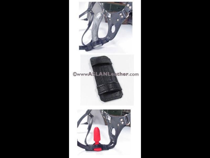 Aslan Aslan Leather Double Up Dildo Cuff