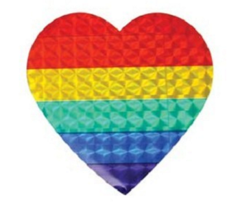 Rainbow Heart Sticker (reflective)