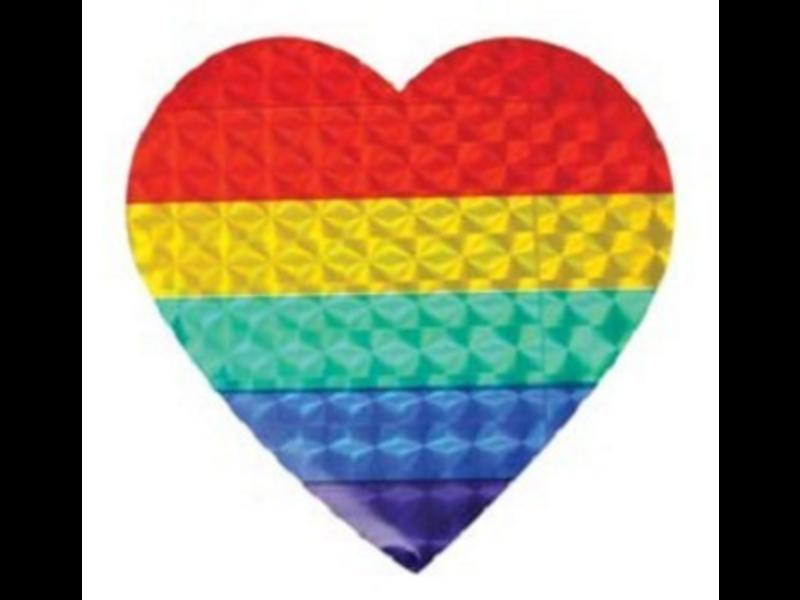 Rainbow Heart Sticker (reflective)