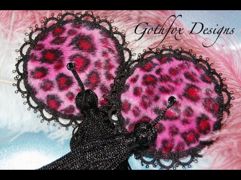 Gothfox Gothfox Twirly Pink Pussy Cat Pasties